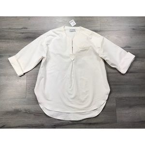 Urban Outfitters NWT $49 tunic 3/4 sleeve white